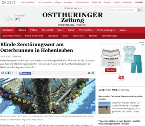 otz-blinde-zerstoerungswut-am-osterbrunnen-hohenleuben