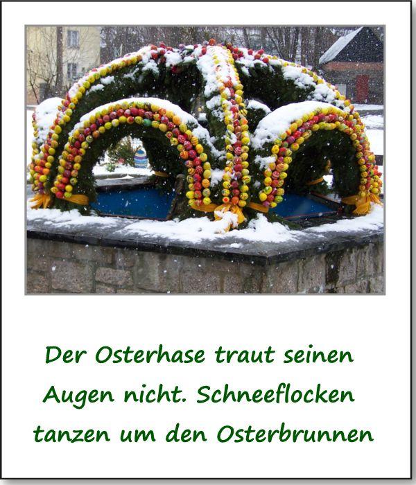 Ostern 2015 Echtes Aprilwetter Am Gründonnerstag Osterbrunnen In
