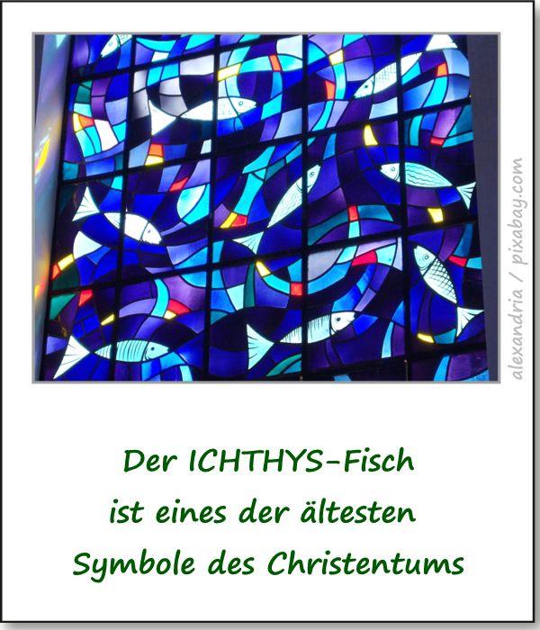 Ichthys Fisch Symbol Des Christentums Osterbrunnen In