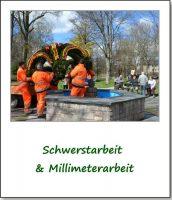 Aufbau Osterbrunnen Park
